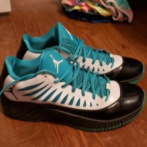 Mens Jordan  real and black shoes size 11